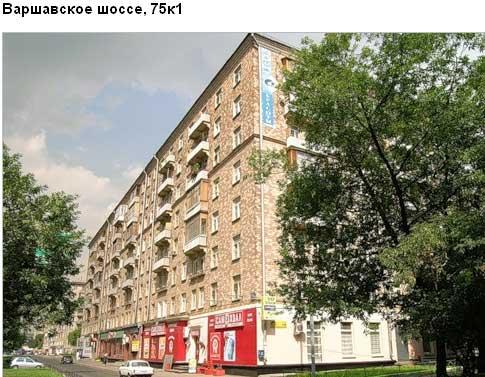 Варшавское шоссе, д.75, корп. 1. Южный административный округ.  Район Нагорный.